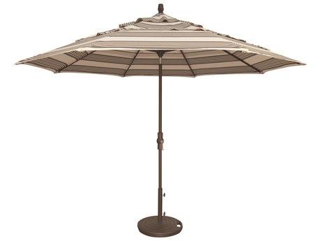 Treasure Garden NonStock Sunbrella  Market Aluminum 11' Octagon Collar Tilt Crank Lift Umbrella PatioLiving