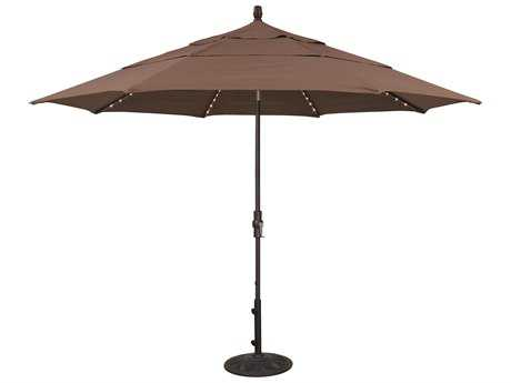 Treasure Garden Quick Ship  Aluminum 11 Foot Starlight Crank Lift Collar Tilt Umbrella