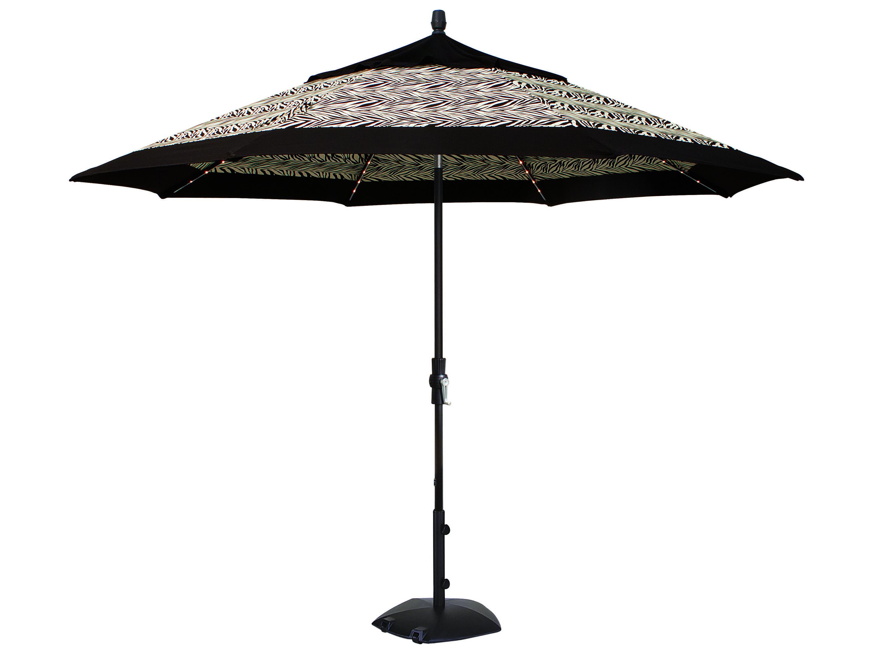 Treasure Garden Quick Ship Aluminum 11 Foot Starlight Crank Lift Collar Tilt Umbrella