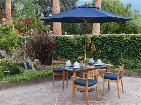 Treasure Garden Market Wood 9' Octagon Pulley Lift Umbrella PatioLiving