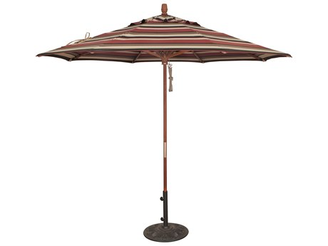 Treasure Garden NonStock Sunbrella  Market Wood 9' Octagon Pully Lift Umbrella
