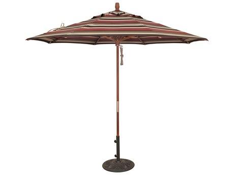 Treasure Garden NonStock Sunbrella Market Wood 9' Octagon Pully Lift Umbrella PatioLiving