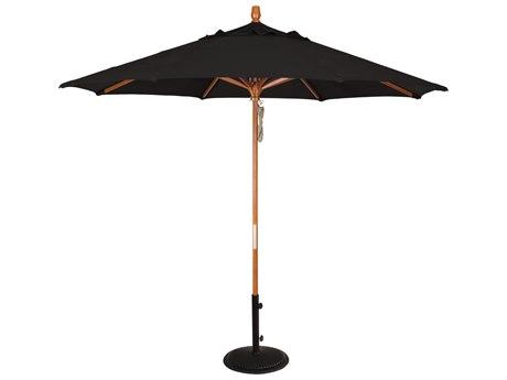 Treasure Garden NonStock Sunbrella Market Wood 9' Octagon Pully Lift Umbrella