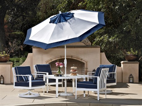 Treasure Garden Market Aluminum 9' Octagon Auto Tilt Crank Lift Umbrella