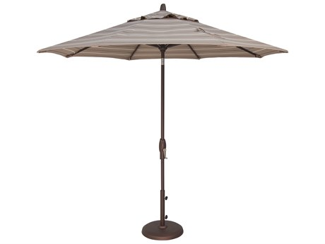 Treasure Garden NonStock Sunbrella  Market Aluminum 9' Octagon Auto Tilt Crank Lift Umbrella