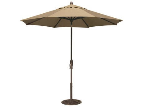 Treasure Garden Quick Ship Market Aluminum 9' Octagon Auto Tilt Crank Lift Umbrella