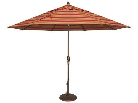 Treasure Garden NonStock Sunbrella Market Aluminum 11' Octagon Auto Tilt Crank Lift Umbrella PatioLiving