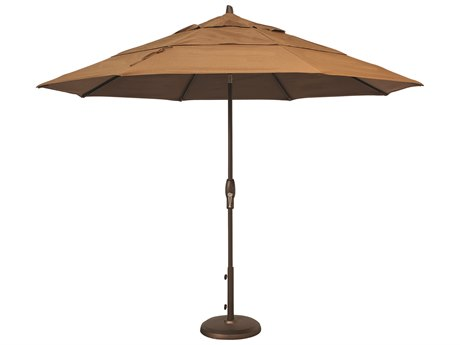 Treasure Garden Quick Ship Market Aluminum 11' Octagon Auto Tilt Crank Lift Umbrella PatioLiving