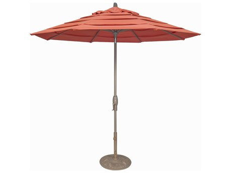 Treasure Garden Milan 9 Foot Crank Lift Auto Tilt Umbrella