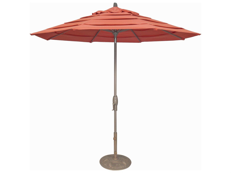 Treasure Garden Milan 9 Foot Crank Lift Auto Tilt Umbrella Exum81ml