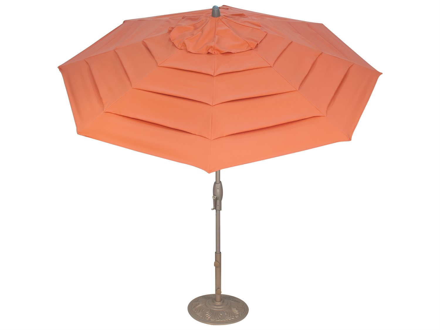 Treasure garden milan 9 foot crank lift auto tilt umbrella for Patio table umbrella 6 foot