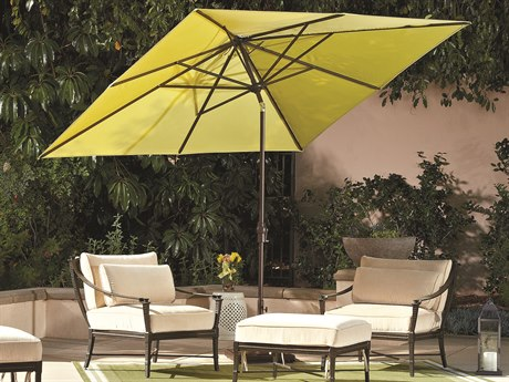 Treasure Garden Market Aluminum 8x10 Foot Rectangular Crank Lift Auto Tilt Umbrella PatioLiving