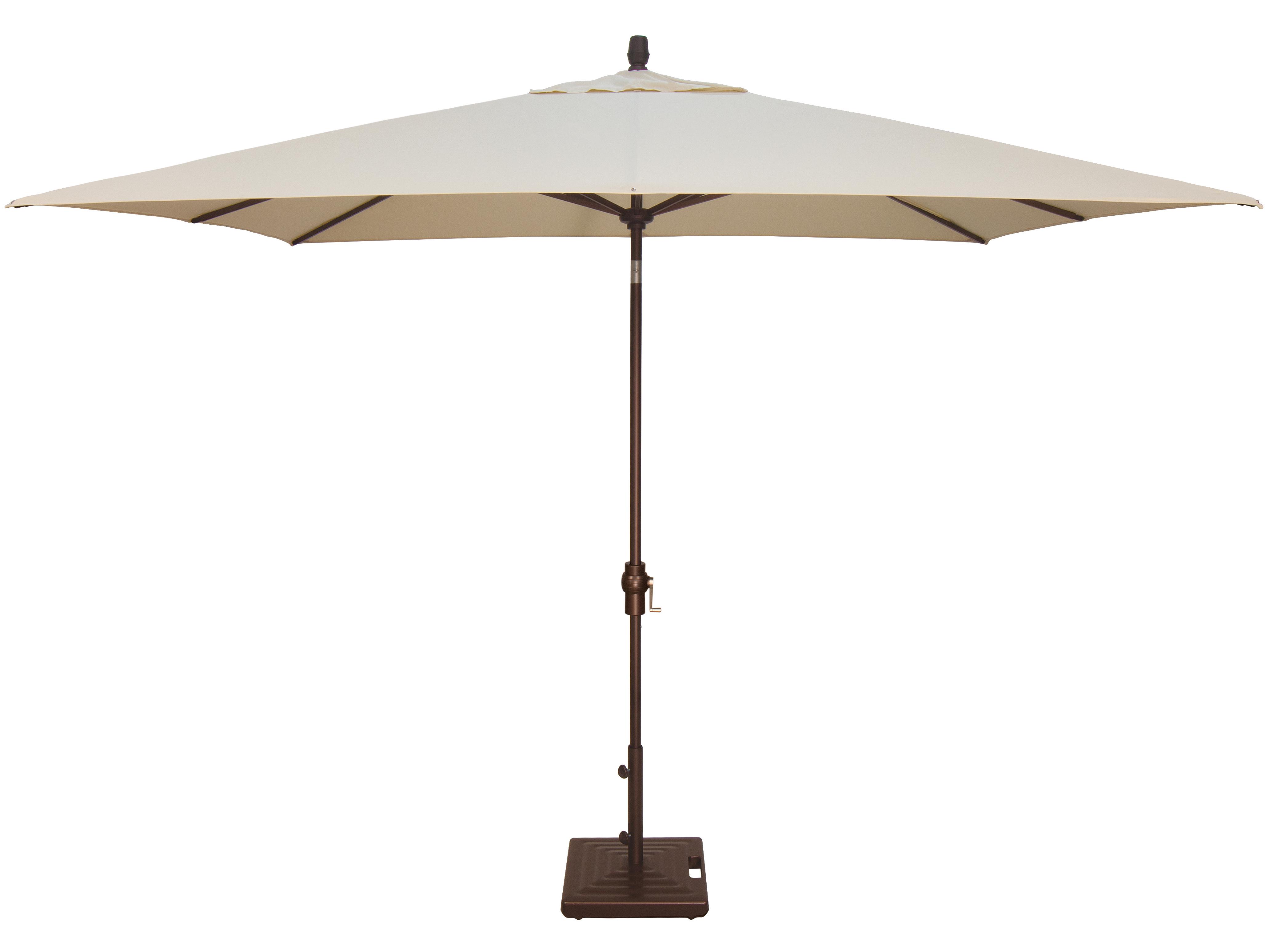 Treasure Garden Market Aluminum 8x10 Foot Rectangular Crank Lift Auto Tilt Umbrella Exum8810rt