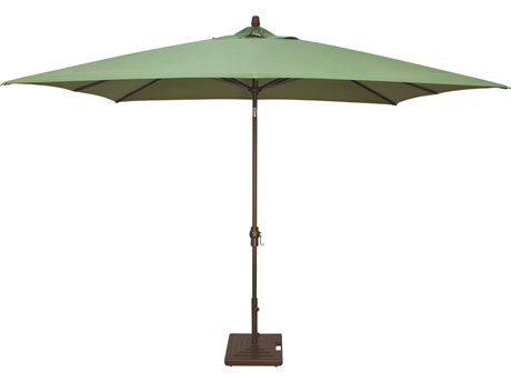 Treasure Garden NonStock Sunbrella  Market Aluminum 8x10 Foot Rectangular Crank Lift Auto Tilt Umbrella