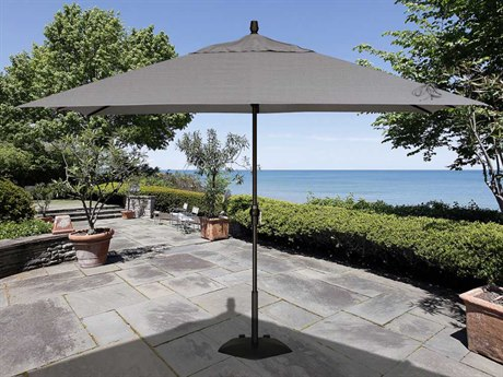 Treasure Garden Market Aluminum 8' x 11' Crank Lift Rectangular Umbrella PatioLiving