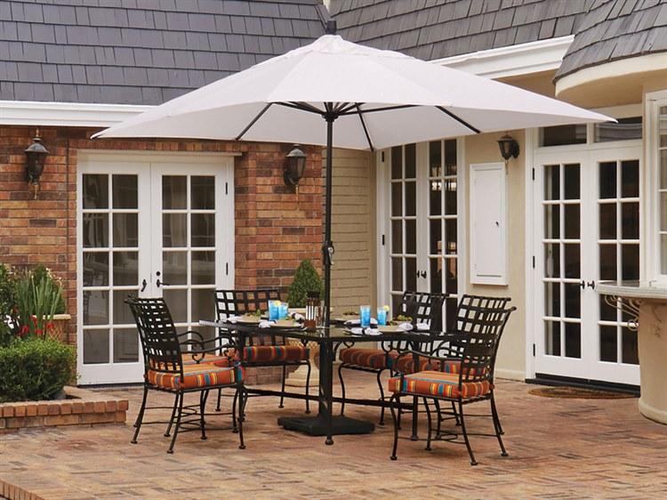 Treasure Garden Market Aluminum 8' x 11' Crank Lift Rectangular Umbrella PatioLiving