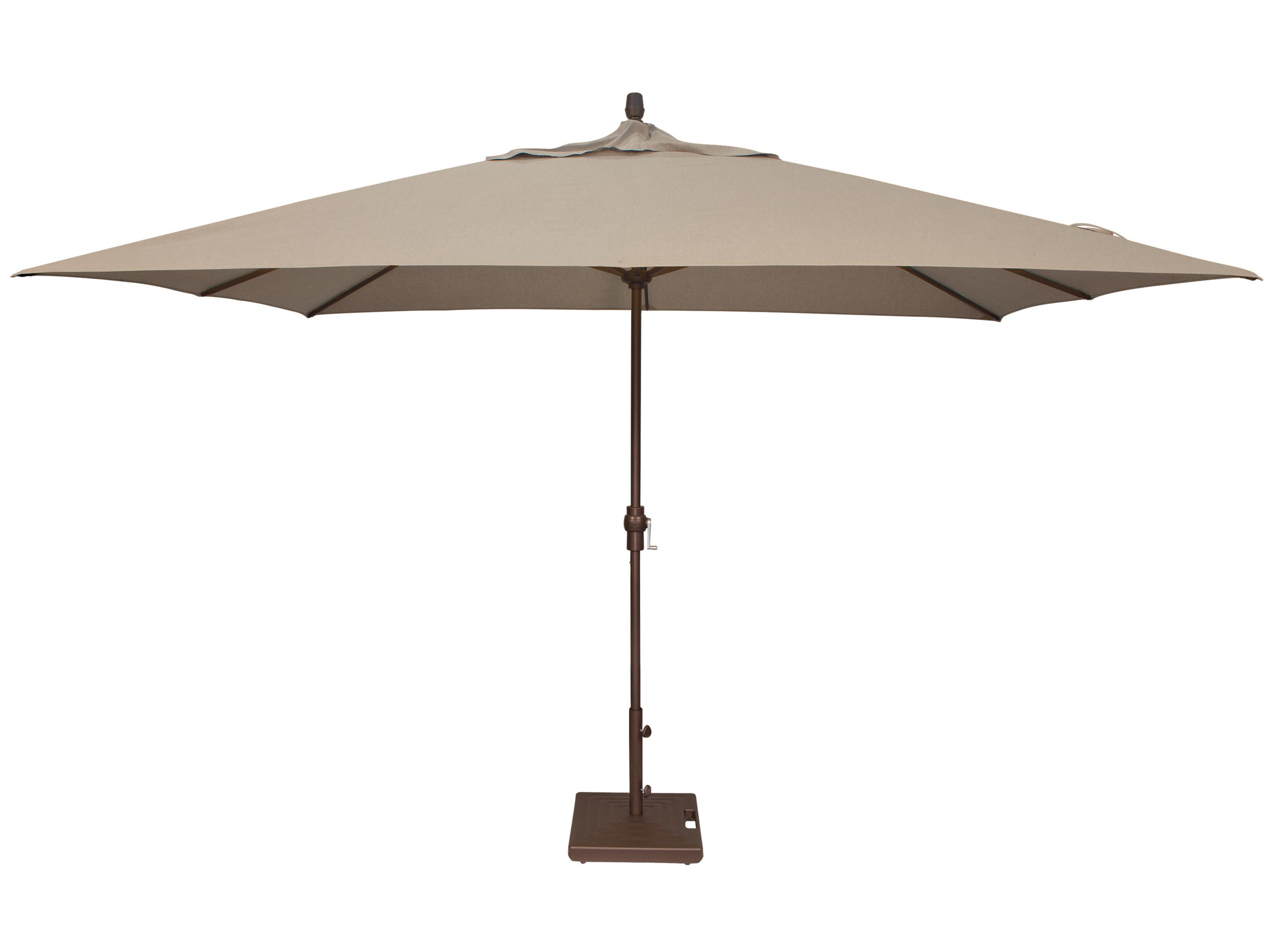 Treasure Garden Market Aluminum 8 39 X 11 39 Crank Lift Rectangular Umbrella Exum8811rt