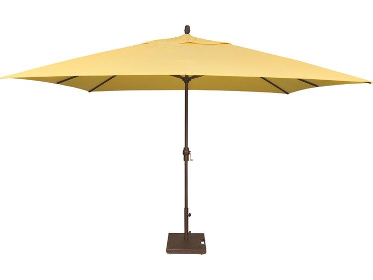 Treasure Garden NonStock Sunbrella  Market Aluminum 8' x 11' Crank Lift Rectangular Umbrella PatioLiving