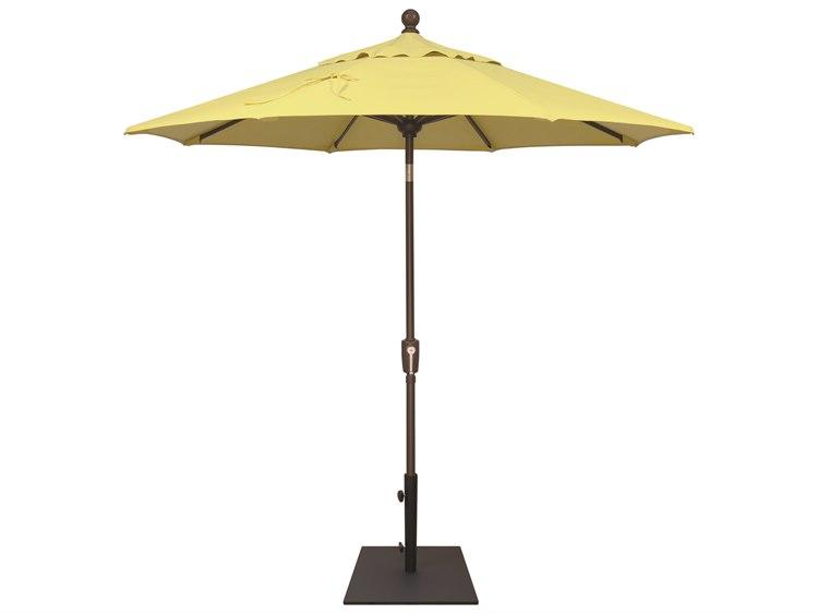 Treasure Garden NonStock Sunbrella  Market Aluminum 7.5' Octagon Push Button Tilt Crank Lift Umbrella PatioLiving
