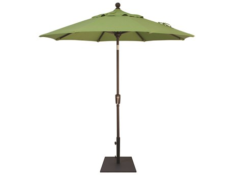 Treasure Garden Quick Ship  Market Aluminum 7.5' Octagon Push Button Tilt Crank Lift Umbrella