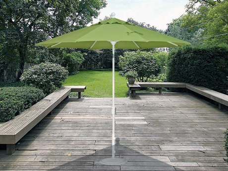Treasure Garden Market Aluminum 9' Foot Wide Crank Lift Push Button Tilt Umbrella PatioLiving