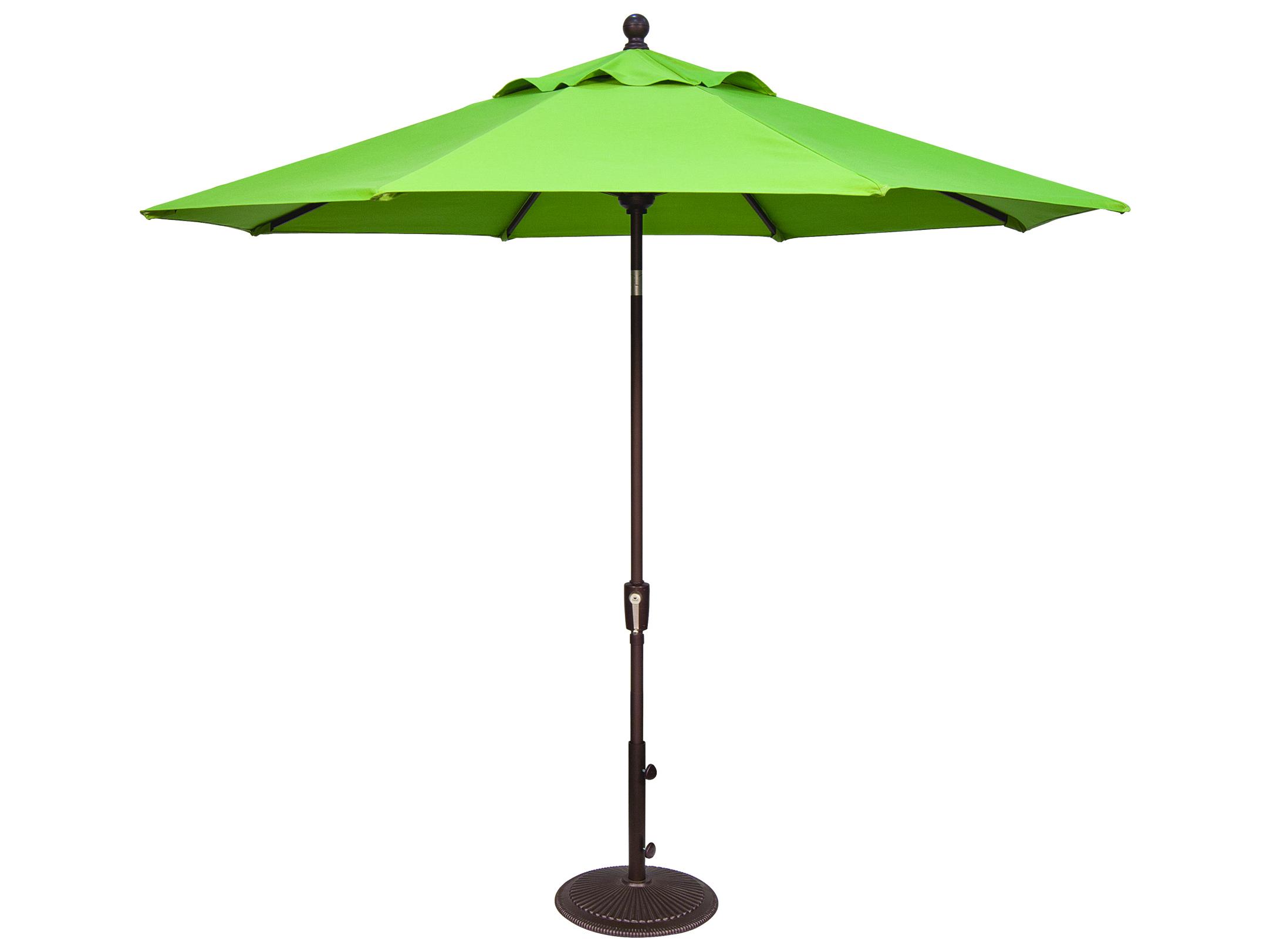 Treasure Garden Market Aluminum 9 39 Foot Wide Crank Lift Push Button Tilt Umbrella Um920