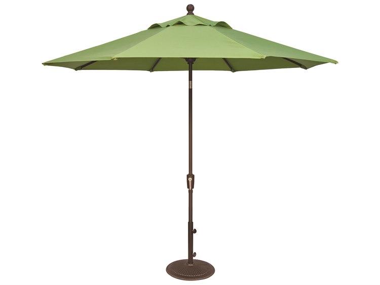 Treasure Garden NonStock Sunbrella  Market Aluminum 9' Foot Wide Crank Lift Push Button Tilt Umbrella PatioLiving