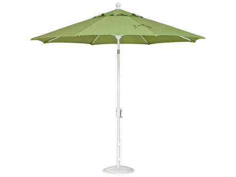 Treasure Garden Quick Ship  Market Aluminum 9' Foot Wide Crank Lift Push Button Tilt Umbrella PatioLiving