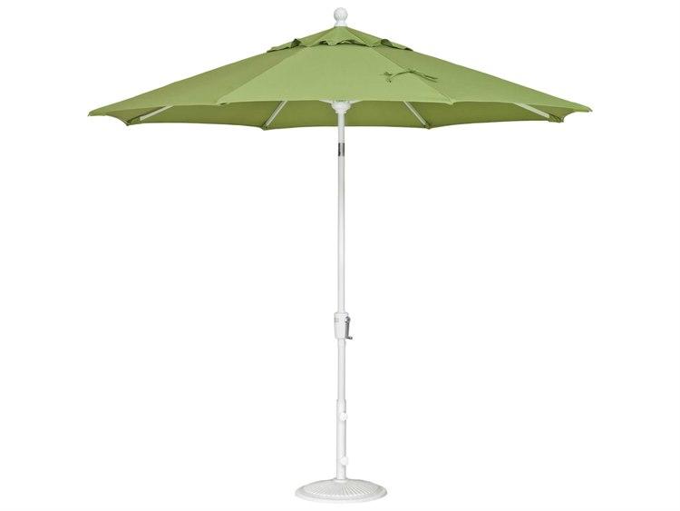 Treasure Garden Quick Ship  Market Aluminum 9' Foot Wide Crank Lift Push Button Tilt Umbrella PatioLiving
