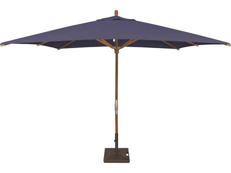 Treasure Garden Market Wood 8 x 10 Foot Crank Lift No Tilt Rectangular Umbrella