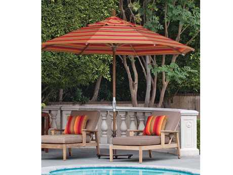 Treasure Garden Market Wood 11 Foot Crank Lift No Tilt Octagon Umbrella