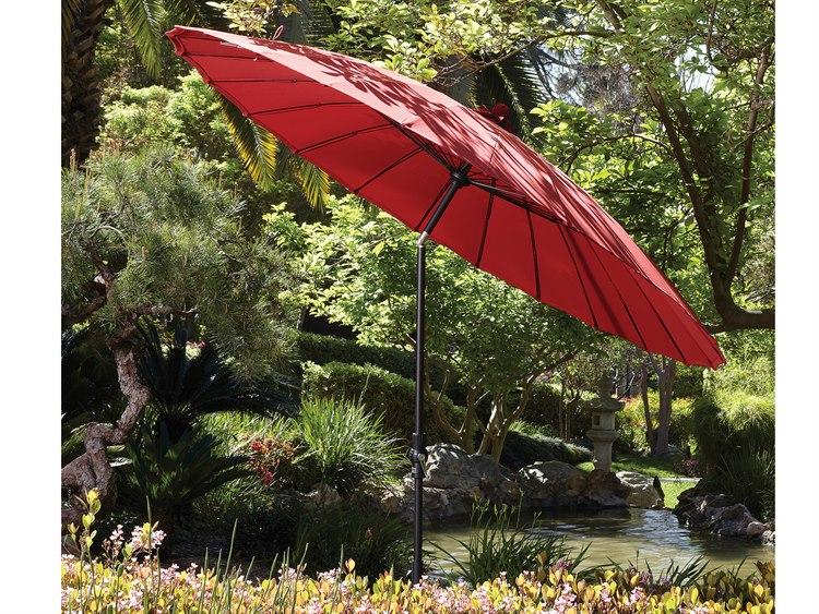Treasure Garden 10u0027 Shanghai Aluminum Round Collar Tilt Crank Lift Umbrella  | USA459