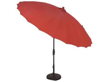Treasure Garden NonStock Sunbrella 10' Shanghai Aluminum Round Collar Tilt Crank Lift Umbrella PatioLiving