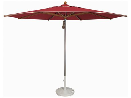 Treasure Garden 11' Vienna Aluminum Teak Octagon Umbrella (without Trim)