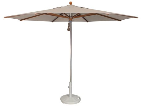 Treasure Garden Nonstock Sunbrella 11' Vienna Aluminum Teak Octagon Umbrella (without Trim) PatioLiving
