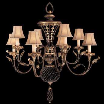 Fine Art Lamps Villa 1919 156140ST Eight-Light 40'' Wide Grand Chandelier