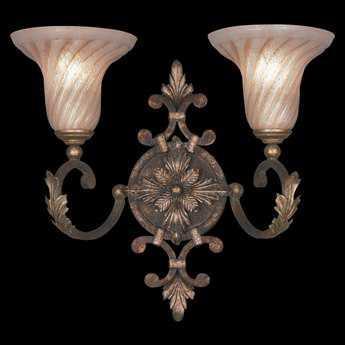 Fine Art Lamps Stile Bellagio 175350ST Two-Light Wall Sconce