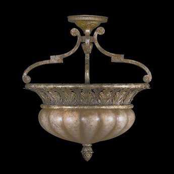 Fine Art Lamps A Midsummer Nights Dream 203745ST Two-Light Semi-Flush Mount Light