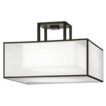 Fine Art Lamps Black + White Story 330740-6ST Two-Light Semi-Flush Mount Light