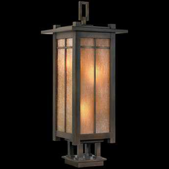 Fine Art Lamps Capistrano 401883ST Four-Light Outdoor Post Light