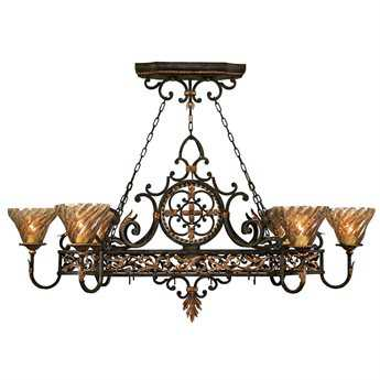 Fine Art Lamps Epicurean 407640ST Six-Light 59'' Wide Grand Chandelier