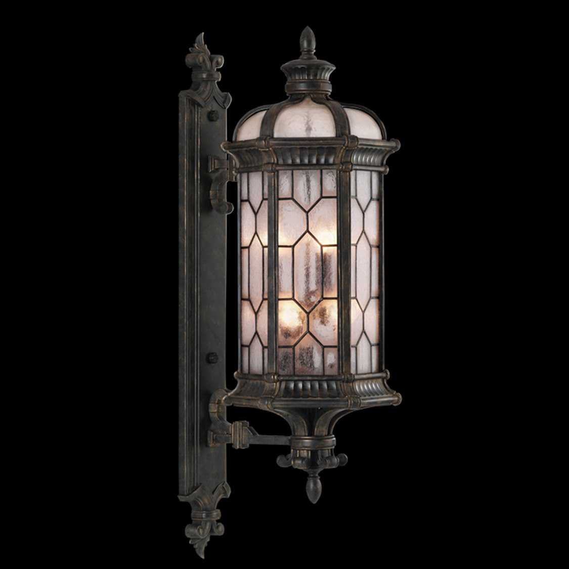 fine art lamps devonshire 414081st six light outdoor wall. Black Bedroom Furniture Sets. Home Design Ideas