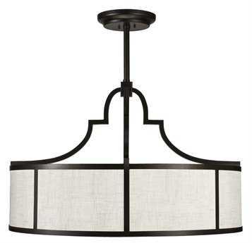 Fine Art Lamps Black + White Story 601840-6ST Eight-Light Pendant