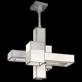 Fine Art Lamps Perspectives Silver 731840-2GU 15-Light Pendant