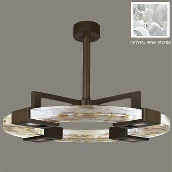 Fine Art Lamps Crystal Bakehouse 819140-14ST Four-Light Pendant