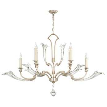 Fine Art Lamps ice Sculpture 855040ST Six-Light Grand Chandelier