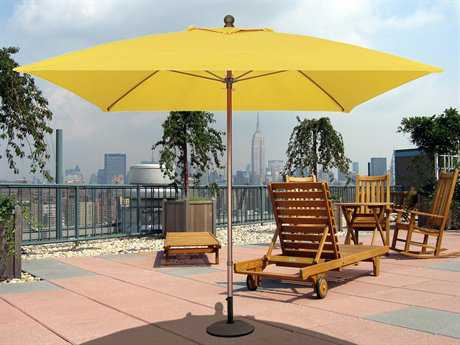 Fiberbuilt Market Pulley 7.5' Square Aluminum Umbrella