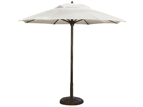 Fiberbuilt Umbrellas Prestige Diamante 11' Octagon Pulley & Pin Fiber Teak Umbrella
