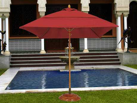 Fiberbuilt Bridgewater FiberTeak 6' Square Wood Umbrella