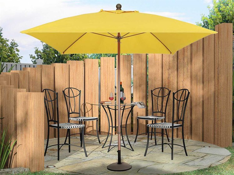 Fiberbuilt Market Pulley 6.5' Square Aluminum Umbrella PatioLiving